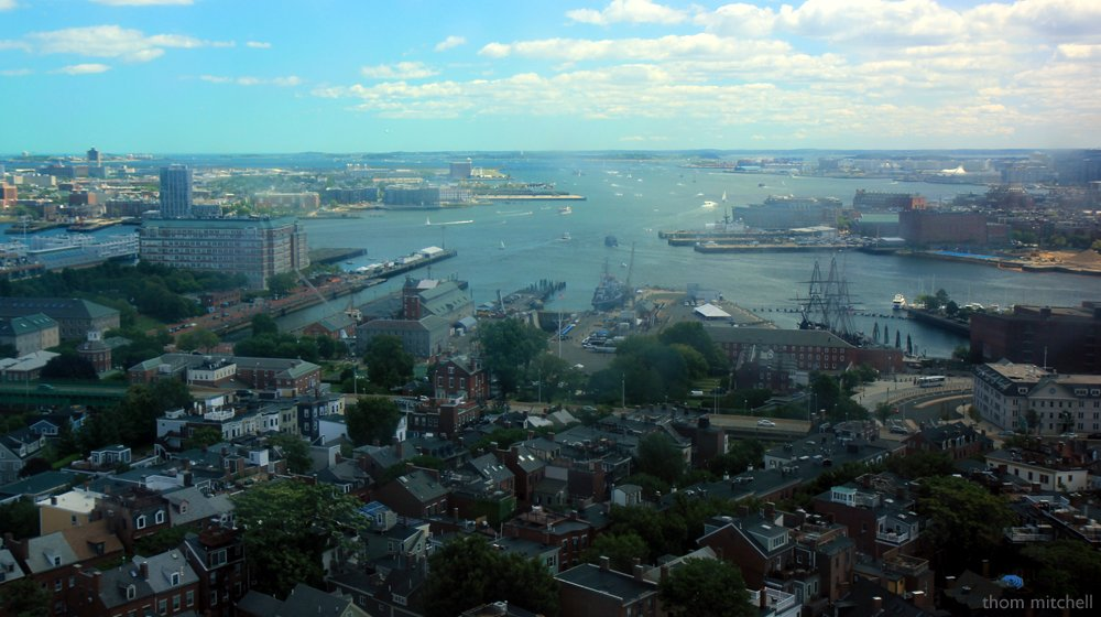 Boston from the Bunker Hill Monument by rhoing