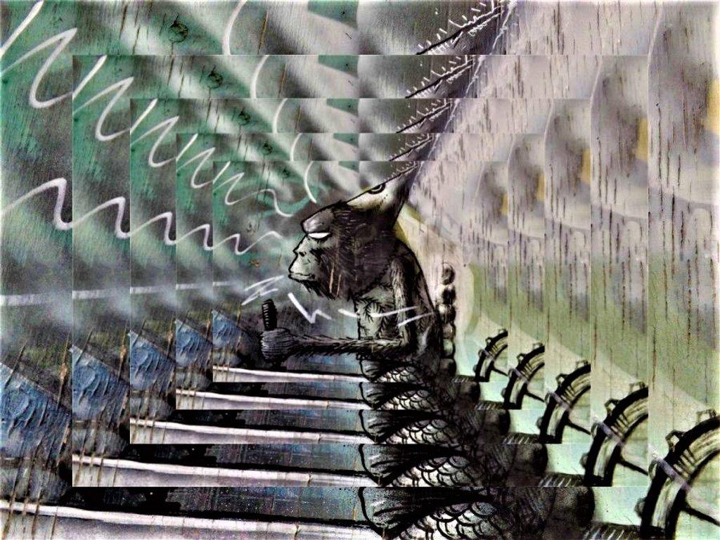 Space Monkey Hyperdrive by ajisaac
