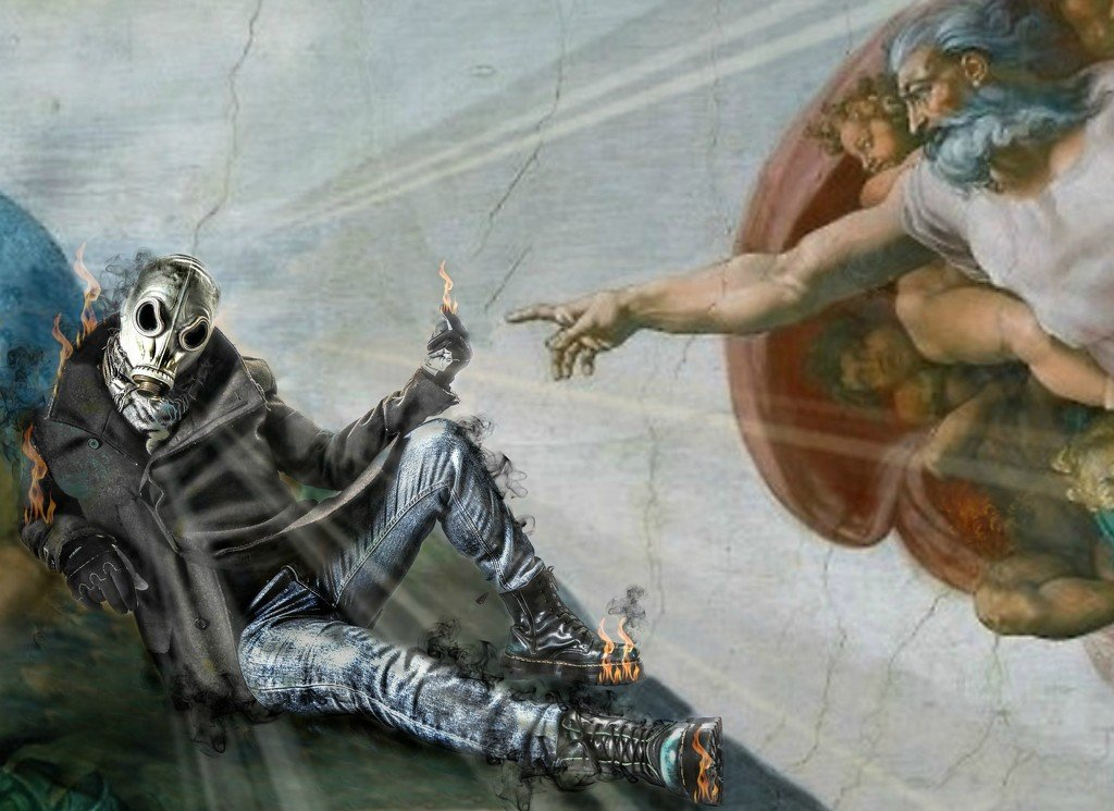 the creation of gas mask man by graemestevens