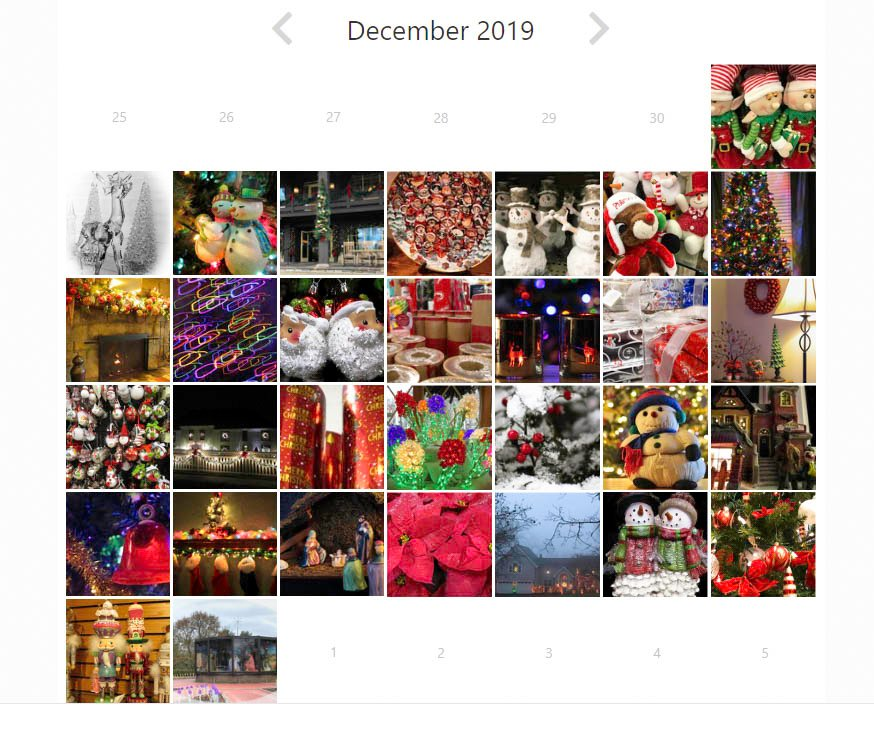 2019 holiday calendar by mittens