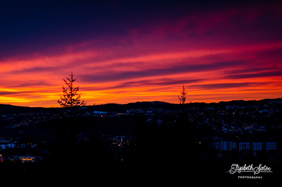 Sunset from my porch by elisasaeter