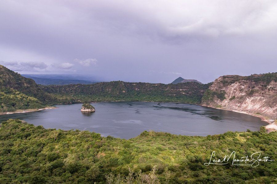 Taal volcano crater before eruption by princessleia