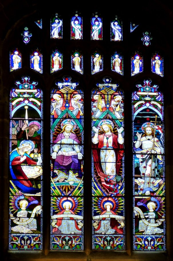 Stained Glass at Wakefield Cathedral by fishers