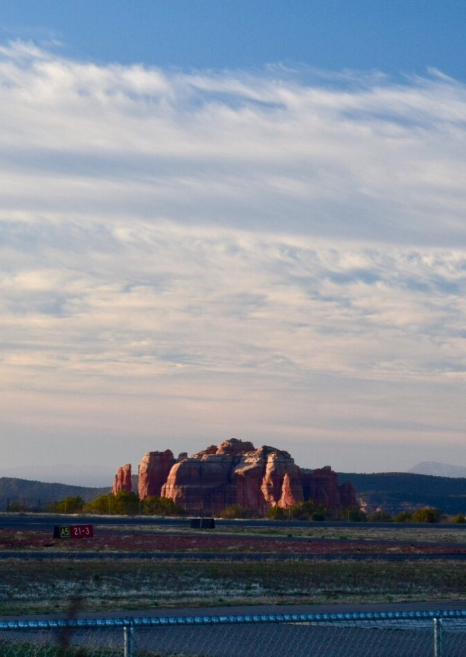 View from Sedona Airport restaurant at sunrise. by sandlily