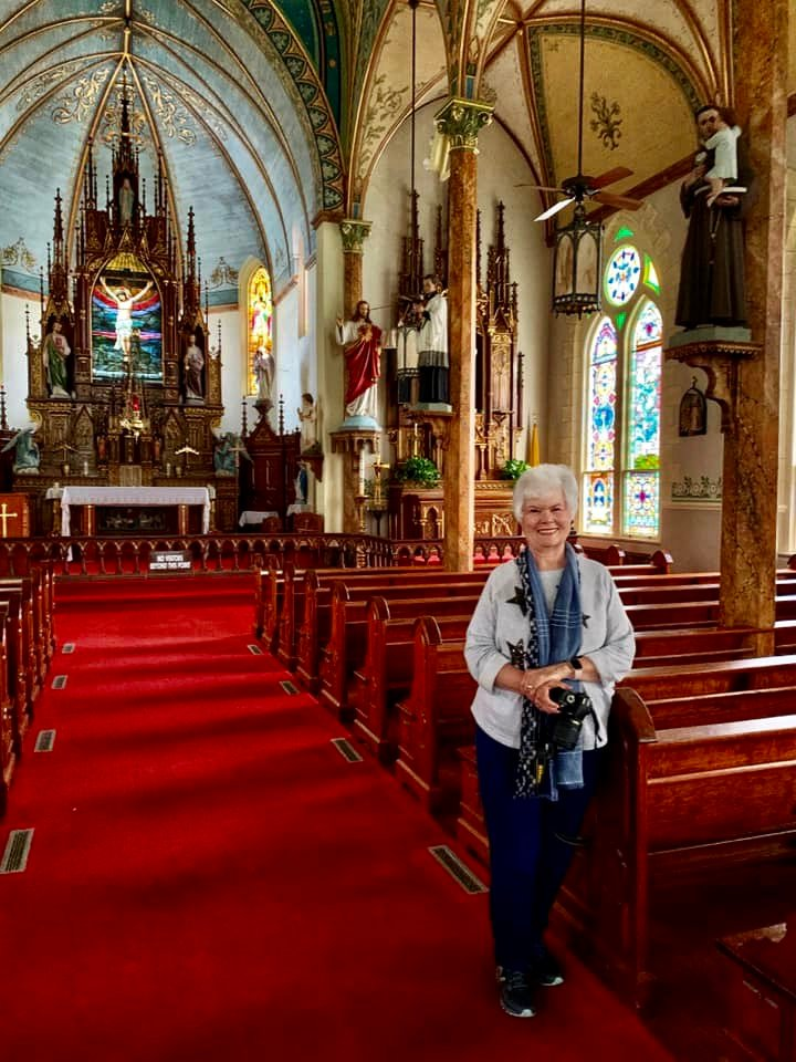 The crimson carpet in St Mary's High Hill Catholic Church is RED! 😀 by louannwarren