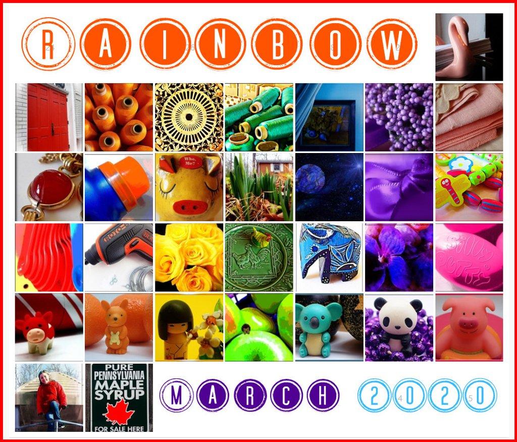 Rainbow March 2020 Calendar by olivetreeann
