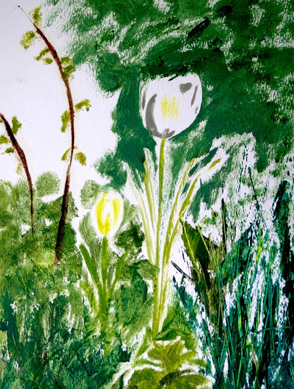 Tulips in oils by lostphojo