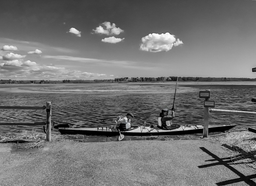 Kayak at Scarbough Marsh by joansmor