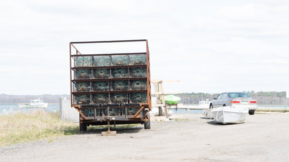 Lobster traps on Truck - Hi-key by joansmor