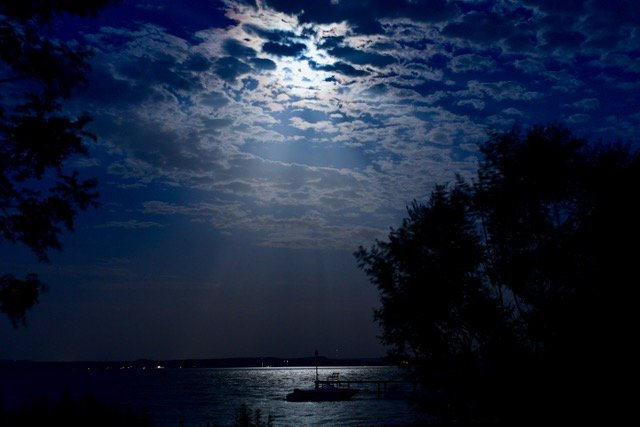 Full Moon behind Clouds  by jin1x
