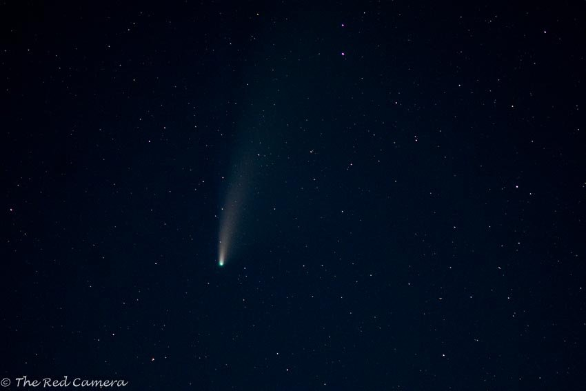Close up Neowise Comet by theredcamera