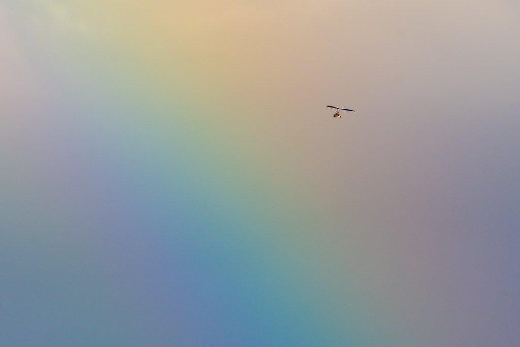 Flying through a Rainbow  by rjb71