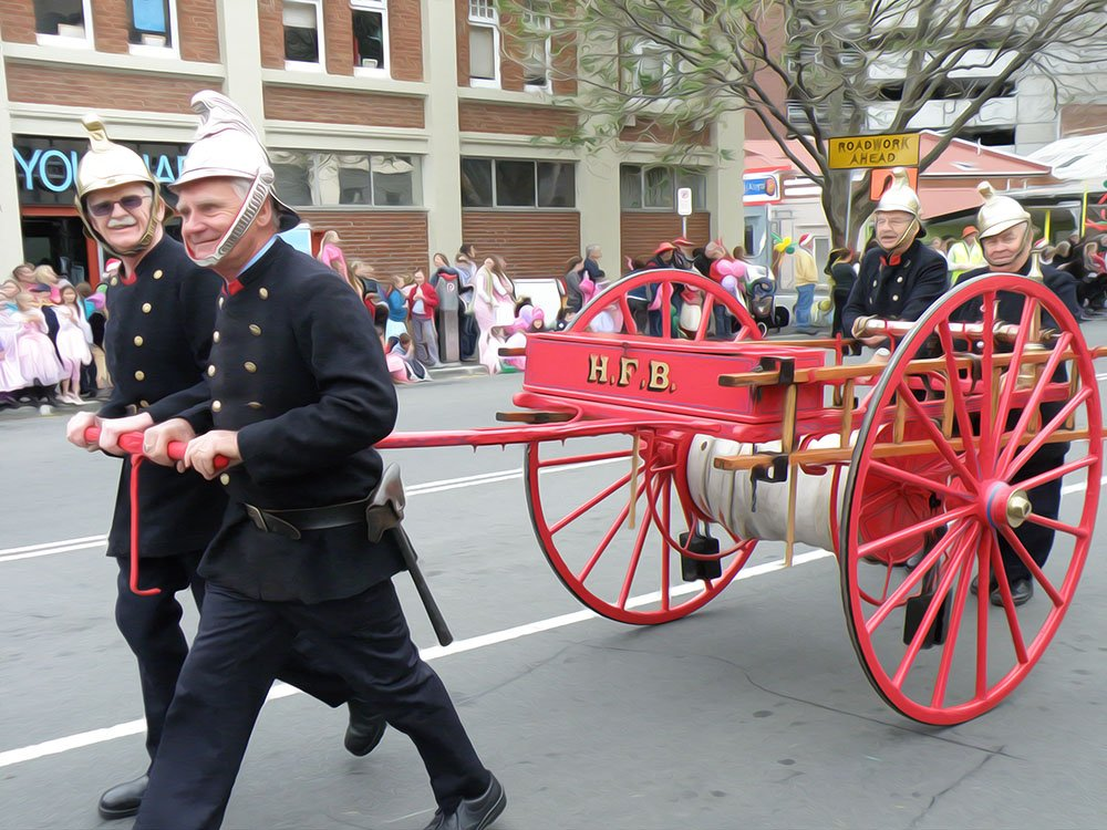 Old fashioned Fire Brigade by kgolab