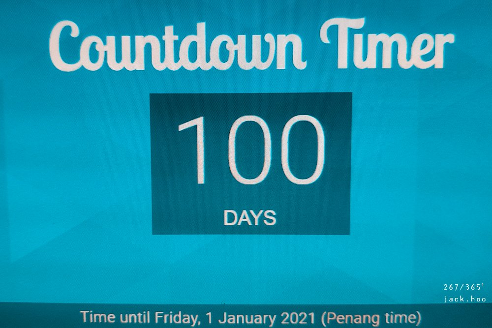 267/365⁴ : 100 days to new year? by jackhoo