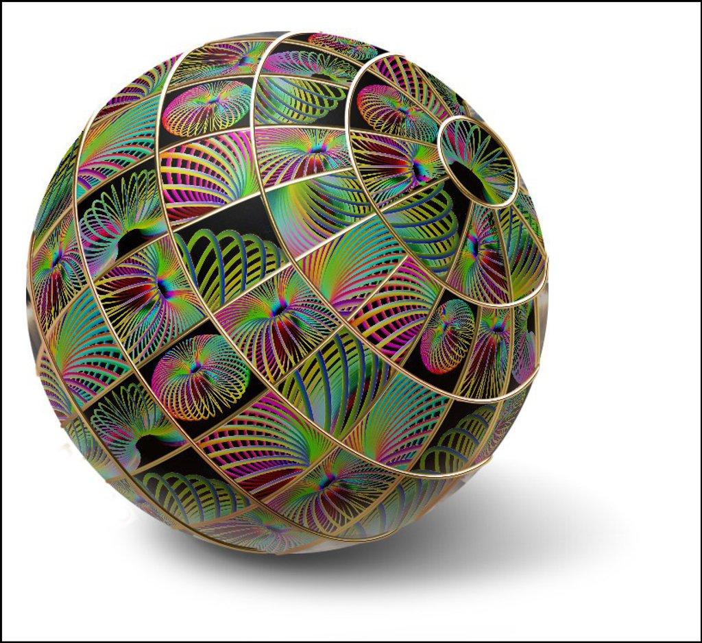 Rainbow Slinky Globe by onewing