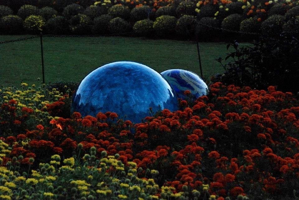 Chihuly bubbles at the Dallas Arboretum  by louannwarren