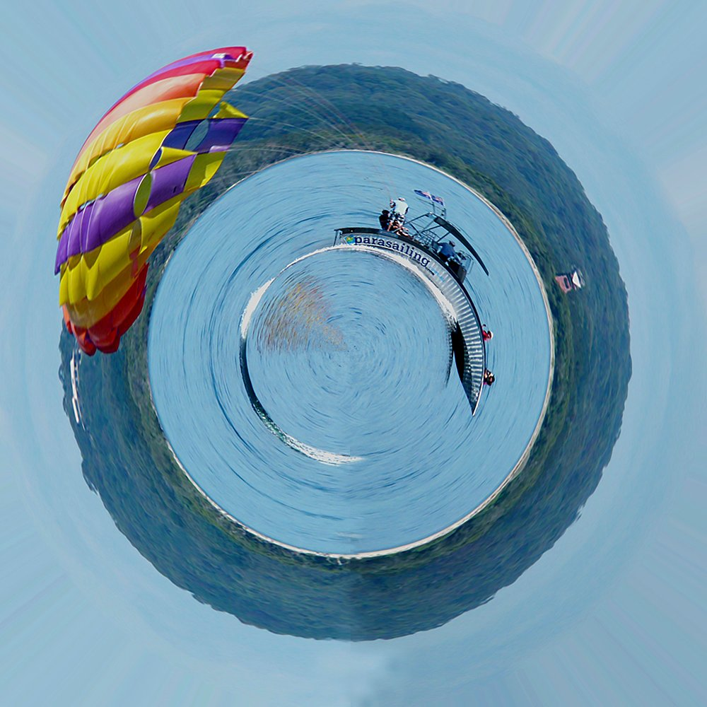 Parasailing Little Planet by onewing