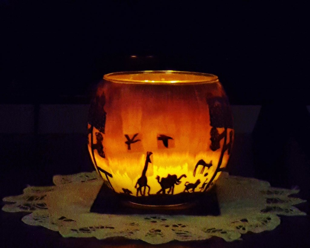 African Candle Holder ~  by happysnaps