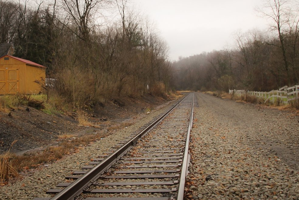 Railroad tracks by mittens