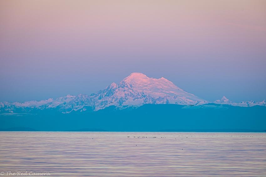 Dungeness Landing Co Park  Mt. Baker by theredcamera