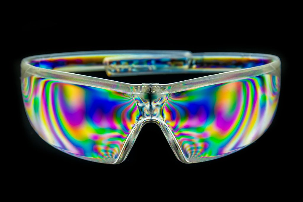 Psychedelic Safety Glasses by rjb71