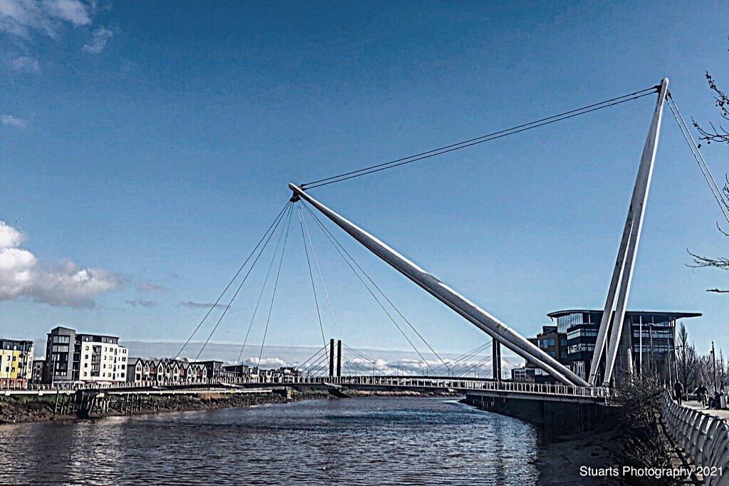Footbridge over the River  by stuart46