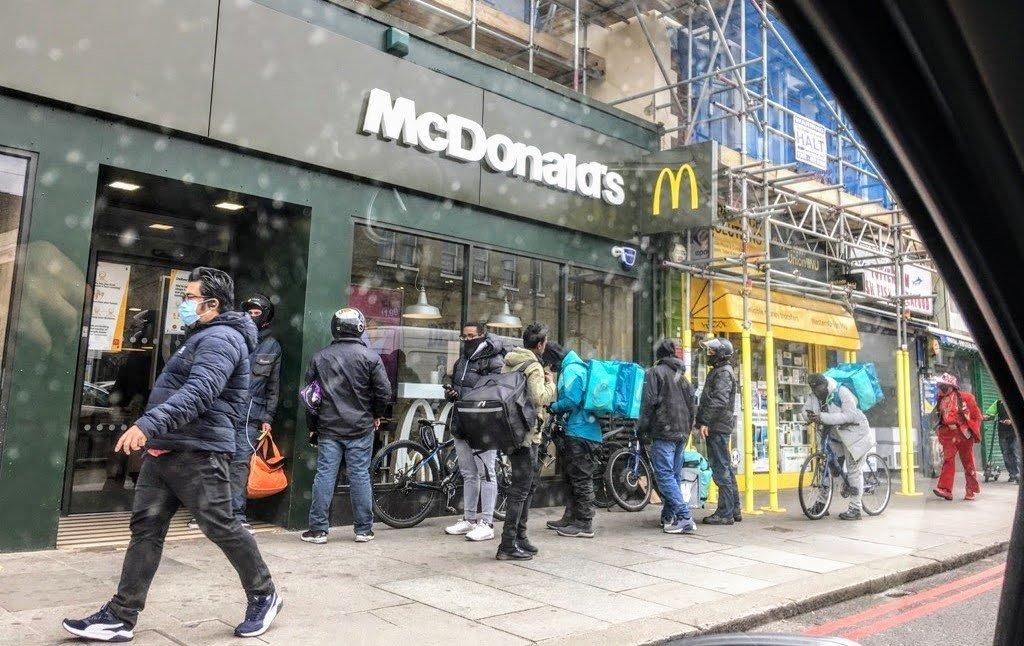 McDonald's through a dirty car window by boxplayer