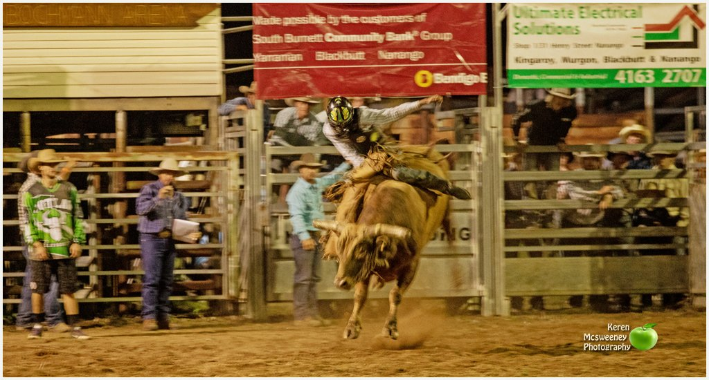 The Rodeo at the Nanango Show by kerenmcsweeney