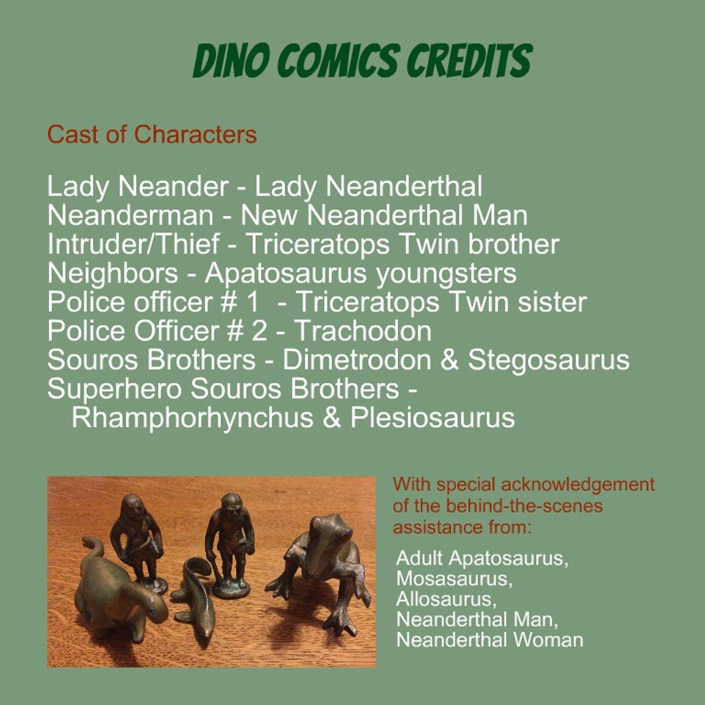 Dino Comics Credits by mcsiegle