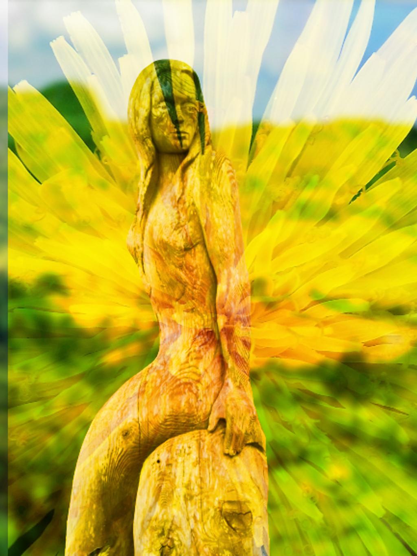 Mellow Yellow Mermaid by ajisaac
