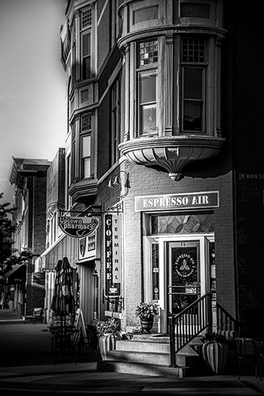 Morning @ Espresso Air - (B&W) by ggshearron