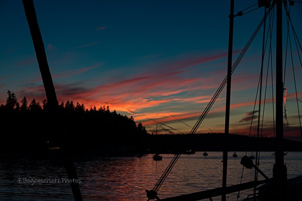 Sunset at Port Hadlock  by theredcamera