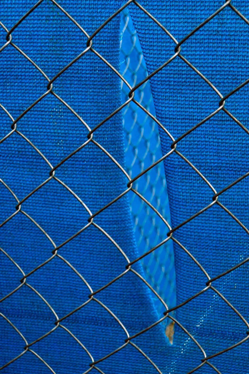 Blue Tarp, Fenced by granagringa
