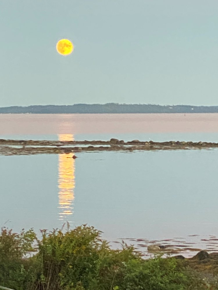 Moonrise by the cottage by joansmor