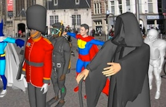 Augmented Reality Flashmob: morgenmiddag in Amsterdam