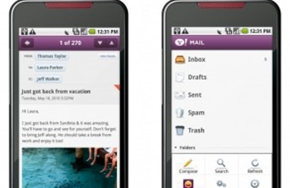 Yahoo lanceert drie Android-applicaties voor Mail, Messenger en Search