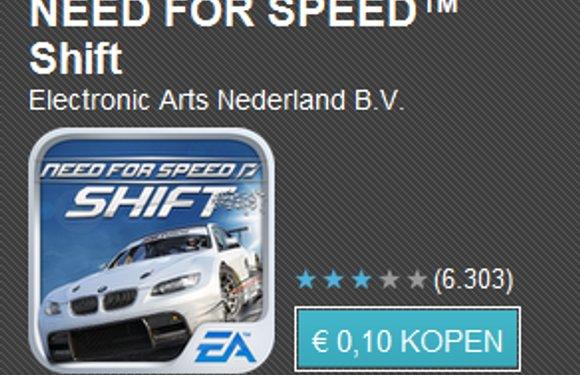 Tien apps voor tien cent dag 4 met o.a. Shazam Encore, Jelly Defense en Need for Speed Shift