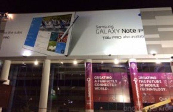 Billboards wijzen op presentatie Galaxy Note Pro en Tab Pro deze week