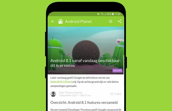 Android nieuws #49: Android 8.1 release en Huawei P11