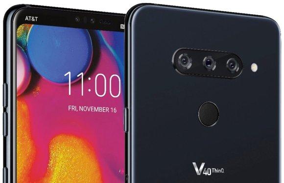 'Gelekte render toont LG V40 ThinQ met driedubbele camera'