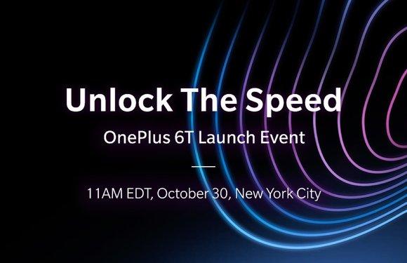 Officieel: OnePlus 6T wordt op 30 oktober gepresenteerd