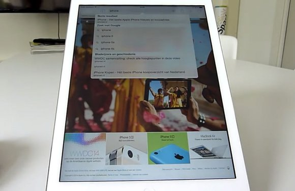 Bekijk onze iOS 8 hands-on op een iPad Air