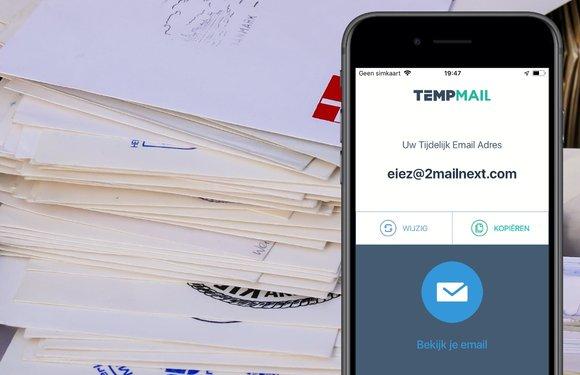Temp Mail geeft je een tijdelijk mailadres en houdt je inbox schoon