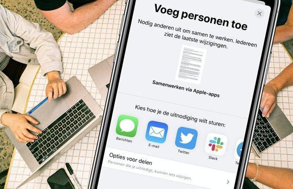 Tip: Samenwerken aan projecten met Apple-apps