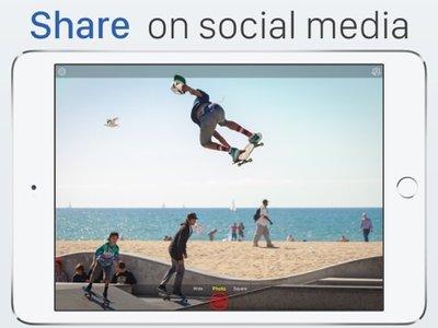 Live Pictures Cam & GIF-maker: delen op Facebook, Twitter & Instagram