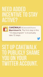CAKEWALK - Your Fitness Motivator