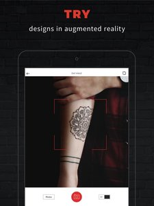 ink hunter probeer tatoeages met augmented reality apps. Black Bedroom Furniture Sets. Home Design Ideas