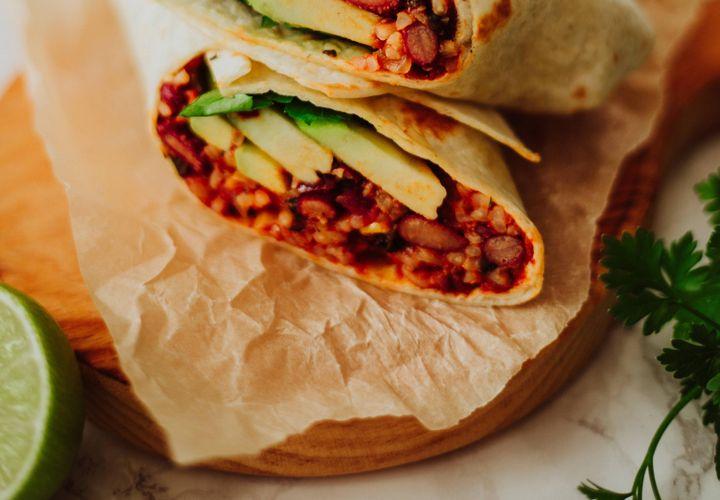 Daržovių ir ryžių burrito