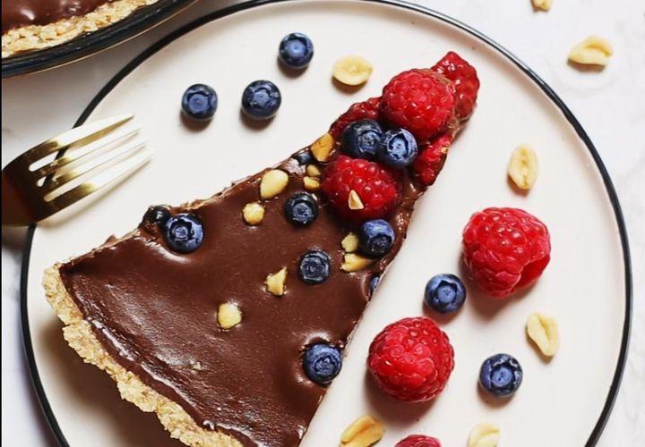 Burnoje tirpstantis šokoladinis tartas