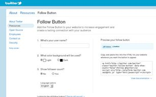 Twitter - ajoutez un bouton follow